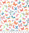 Novelty Cotton Fabric-Colorful Butterflies