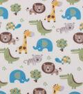Blizzard Fleece Fabric-Safari on Yellow