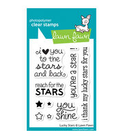 "Lawn Fawn Clear Stamps 3""X4""-Lucky Stars, , hi-res"
