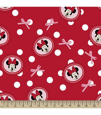 Disney Minnie Mouse Print Fabric-Polka Dots