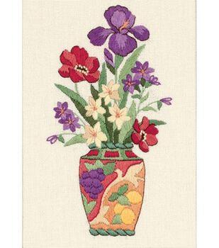 Dimensions Mini Crewel Kit Elegant Floral