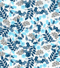Christmas Cotton Fabric-Glitter Leaves