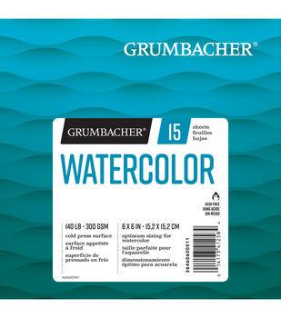 "Grumbacher 6""x6"" Watercolor Pad-15 Sheets"