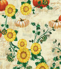 Harvest Cotton Fabric -Sunflower Pumpkins