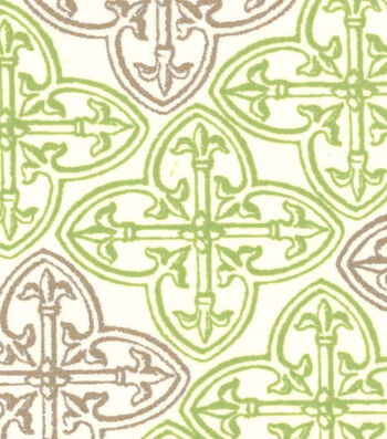 St. Patrick's Day Cotton Fabric -Celtic Cream Metallic