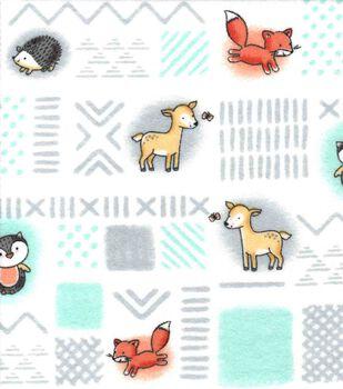 Nursery Flannel Fabric -Woodland Patch