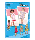 Simplicity Patterns Us1890Aa-Simplicity Toddlers Dresses-1/2-1-2-3