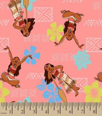 Disney Moana Adventurous Spirit Print Fabric