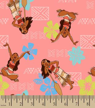 Disney Moana Adventurous Spirit Print Fabric