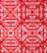 Keepsake Calico Cotton Fabric 43''-Coral Tonal Geometric Diamond, , hi-res