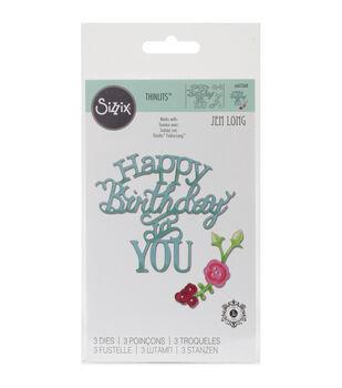 Sizzix Thinlits Happy Birthday To You Dies