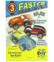 Creativity for Kids Kit-Fast Care Race Cars, , hi-res