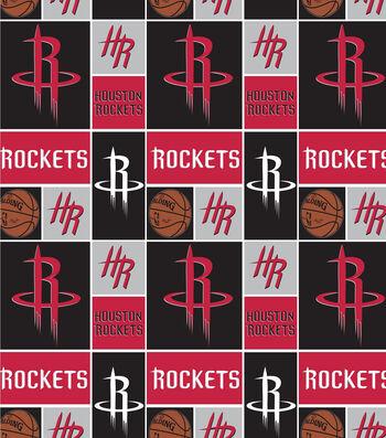 Houstan Rockets Cotton Fabric -Logo Block