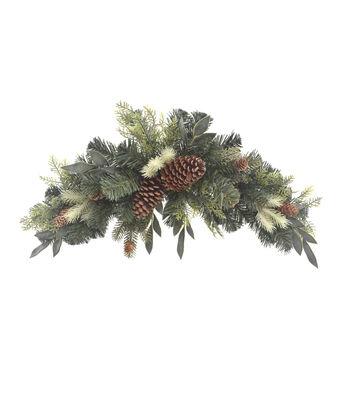 Blooming Holiday Christmas 30'' Greenery & Pinecone Mixed Swag