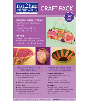 "Fast2fuse Craft Interfacing Hvywt-14""X18"" 1/Pkg"