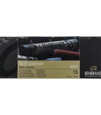 Rembrandt Full Stick Soft Pastels Set 15/Pkg-Dark Shade Selection