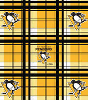 Pittsburgh Penguins Fleece Fabric -Plaid, , hi-res