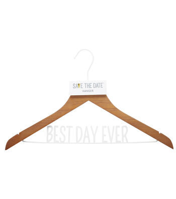 Rustic Clothes Hanger W/stickers