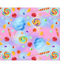 Novelty Cotton Fabric-Candy on Tie Dye