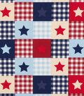 Patriotic Cotton Fabric 44\u0027\u0027-Star Patch