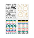 Maggie Holmes Willow Lane Waterfall Stickers 210/Pkg-W/Gold Foil Accents