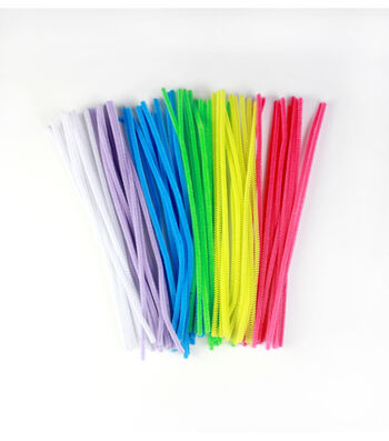 Easter Craft 100 pk 6 mm Chenille Stems-Assorted