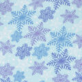 Blizzard Fleece Fabric-Blue & Purple Snowflake