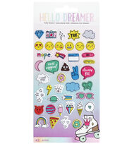 American Crafts Hello Dreamer 42 pk Puffy Stickers, , hi-res