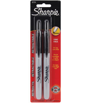 Sanford Sharpie Retractable Fine Point 2Pk-Black