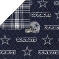 Dallas Cowboys Double-faced Quilt Fabric