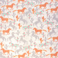 Super Snuggle Flannel Fabric-Pattern Trap Horses on Wood