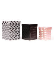 DCWV Square Nested Box Set: Pink and Black, , hi-res
