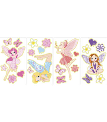 Wall Pops Glow in the Dark Faires Appliques, 23 Piece Set