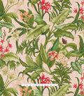 Waverly Upholstery Décor Fabric-Wailea Coast Hibiscus