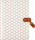Webster\u0027s Pages A5 Color Crush 6-Ring Planner Binder-Copper Hexagon