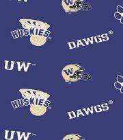 "University of Washington Huskies Fleece Fabric 58""-Allover, , hi-res"