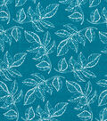 Quilter\u0027s Showcase Cotton Fabric -Leaves on Turquoise