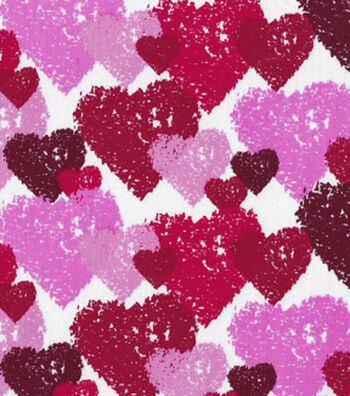 "Valentine's Day Cotton Fabric 44""-Etched Hearts"
