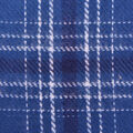 Flannel Shirting Fabric-Teal Navy White Gry Ombre Plaid