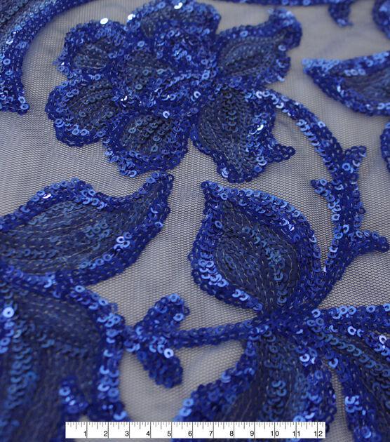 Casa Dahlia Sequin Embroidered Fabric Elegant Navy Blue, , hi-res, image 3
