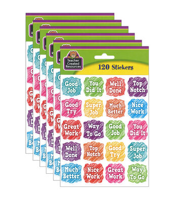 Teacher Created Resources Scribble Stickers 6 Packs