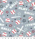 Snuggle Flannel Fabric-Play Ball Baseball