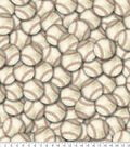 Anti-Pill Fleece Fabric 61\u0022-Vintage Baseballs
