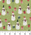 Holiday Cotton Fabric -Santas And Presents Grn