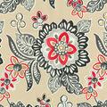 Waverly Outdoor Fabric 54\u0022-Tilt & Twirl Ebony