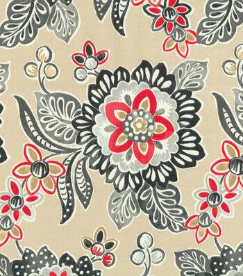"Waverly Outdoor Fabric 54""-Tilt & Twirl Ebony"