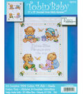 Baby Bears Birth Record Counted Cross Stitch Kit-11\u0022X14\u0022 14 Count