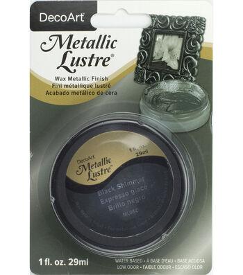 DecoArt Metallic Lustre 1 fl. oz. Wax-Black Shimmer