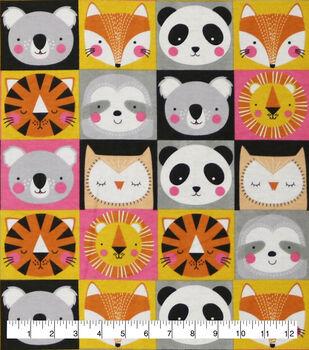 Super Snuggle Flannel Fabric-Safari Animal Faces