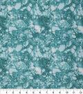 Keepsake Calico Glitter Cotton Fabric 43\u0027\u0027-Teal Snake Skin Crackle